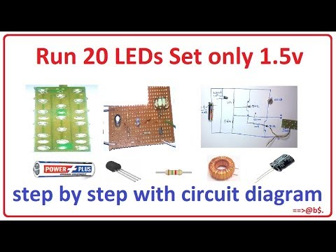 How to run 20 LEDs only 15v - easy step by step with circuit