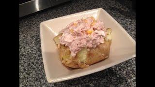 Кулинарный рецепт Печеная картошка в мундире с начинкой из тунца