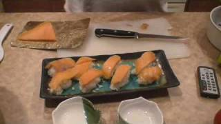 Romantic Recipe: Very Fast Salmon Roll Sushi Appetiser