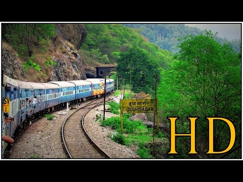 INDIAN RAILWAYS; Highlights of Complete Monsoon Journey from BANGALORE to GOA& DUDHSAGAR WATERFALLS