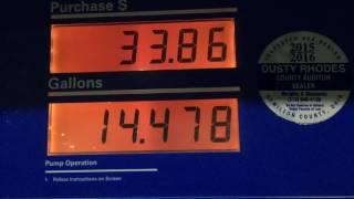 Chiếc xe của tôi nó sắp hết xăng!