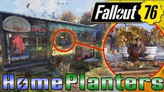 INTERIOR GREENHOUSE FARM!! - WORKING INTERIOR PLANTS - Fallout 76 CAMP BUILDING