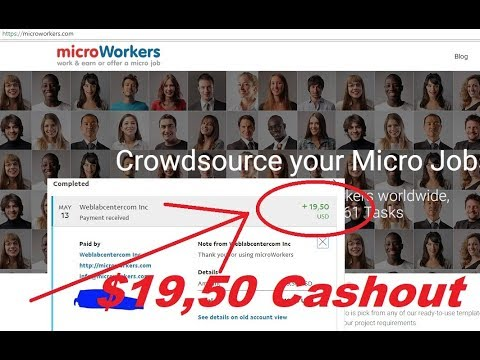 Microworkers review - Get paid to complete micro jobs online