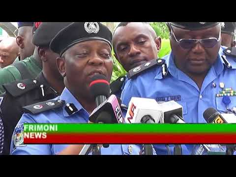 transmission ;NIGERIA NEWS NIGERIA POLICE FORCE PARADES HACKERS AND OTHER SUSPECTS IN LAGOS