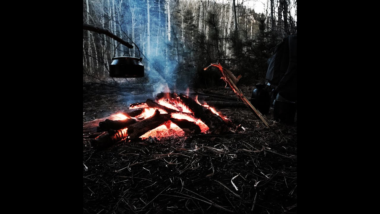 Cooking Fish Over The Campfire With Gods Woodsman