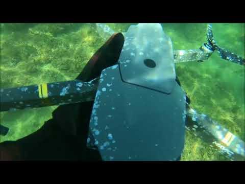 Found  drone dji mavic pro underwater at the sea