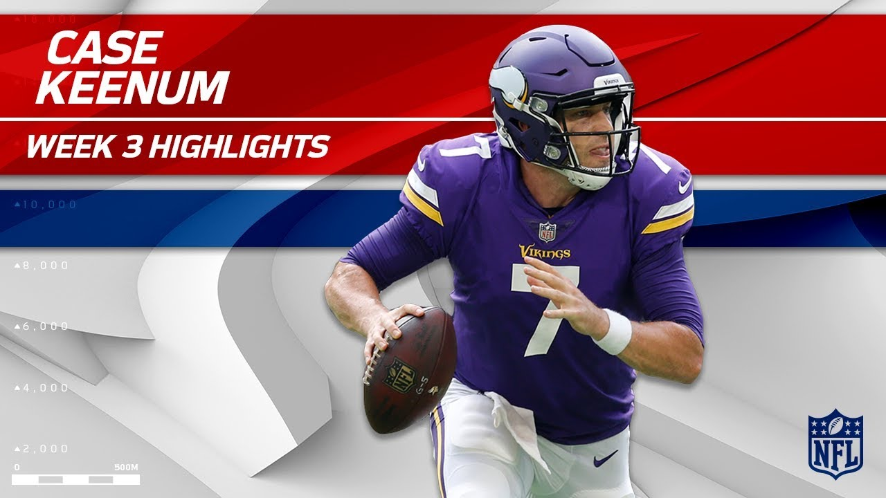 hot sale online 3dc2a 7398f Case Keenum Highlights vs. Tampa Bay | Buccaneers vs. Vikings | Wk 3 Player  Highlights