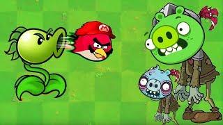 Angry Birds vs Zombies - PEASHOOTER SHOOTING ANGRY BIRDS