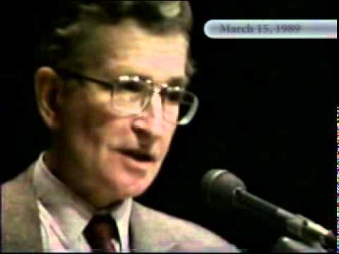 Noam Chomsky: The United States, Israel and the Palestinians 15Mar1989 - Part 1