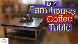 How to Build a Farmhouse Coffee Table (DIY)