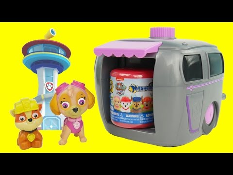 Paw Patrol Skye and Marshall Pup House Magical Surprises with Shopkins Mashems Fashems