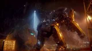 Pacific Rim - Killing a Kaiju/ Gipsy Danger vs Leatherback