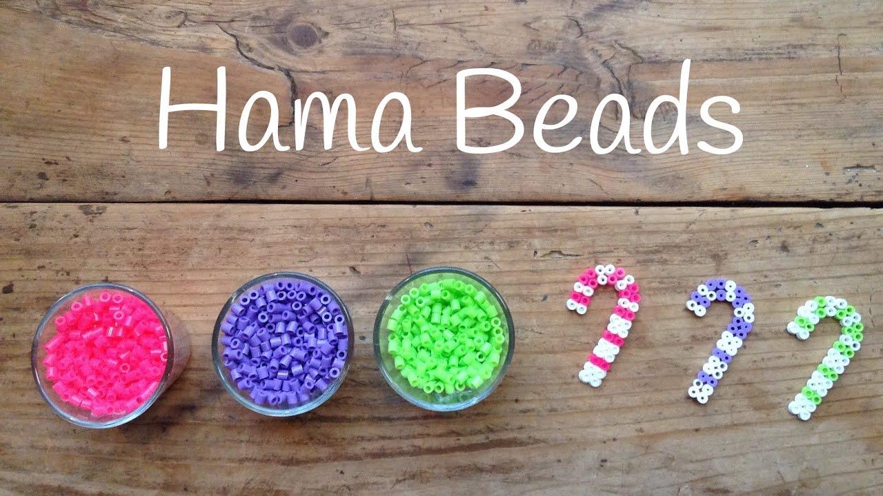 Hama Beads para Navidad - Adornos navideños con forma de bastón ...