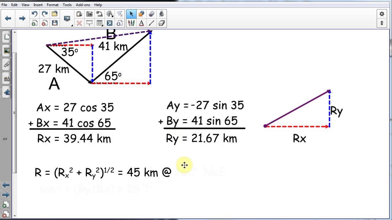 Adding Non Perpendicular Vectors Part 2 Of 2 Youtube Adding non perpendicular vectors
