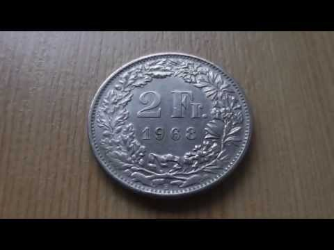 Money of Switzerland - The 2 Swiss franc coin from 1968 in HD