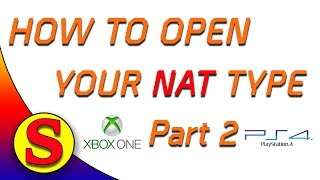 (Part 2of3) How To Open Your Nat Type On The XBOX ONE and PS4 - How To Set A Static IP And DNS Serve