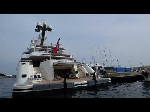 Monaco Yacht show 2017 Port JUBILEE,AQUARIOUS , ARETI,MARTHA ANN,CLOUD 9,ANASTASIA etc