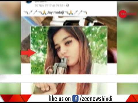 Girl flashing sharp weapon in Surat's Gujarat goes viral on social media