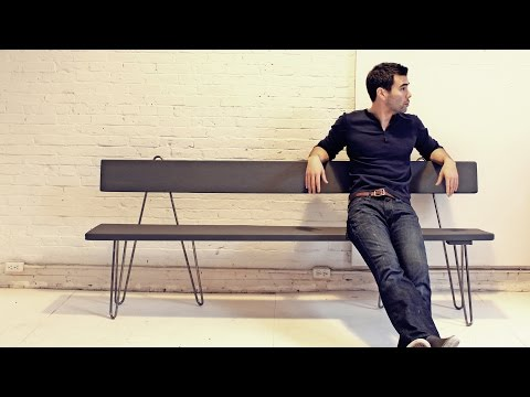 Hairpin Bench With Backrest