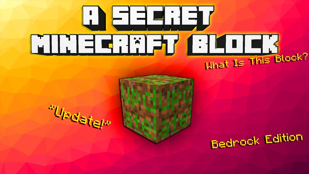 Minecraft What Is This Secret Block Youtube