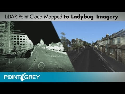 Example of LiDAR Point Cloud Mapped to Ladybug Imagery