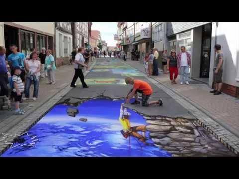 Top 10  Paintings 3D on the ground ART