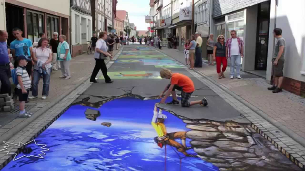 Top 10 Paintings 3d On The Ground Art Youtube