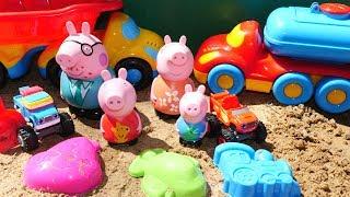 #CвинкаПеппа 🐽 & ВСПЫШ и чудо машинки В ПЕСОЧНИЦЕ 🚚 🚗 Игрушки и Маша #КапукиКануки Видео для детей