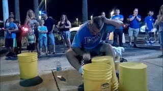 FASTEST ONE HANDED ROLL EVER!!! Gravity Blast on Buckets | Chris Harris Bucket Drummer