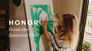 8-year-old Artist Paints Her Sponsored Child | Compassion