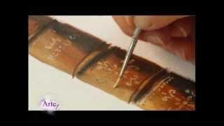 Cómo pintar lomos de libros en un cuadro