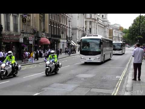 London Metropolitan Police SEG escorting British ARMY troops through central London