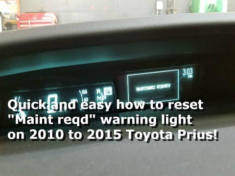 2015 prius maintenance reset