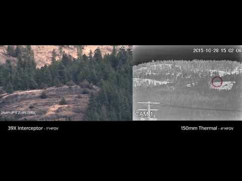 Long Range PTZ surveillance Camera Thermal Infrared LWIR 150mm zoom VS 39x 8-315mm Camera @ 4km