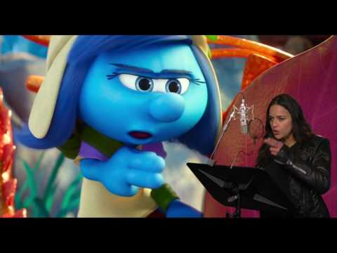 "Smurfs: The Lost Village: Michelle Rodriguez ""Smurfstorm"" Behind the Scenes Voice Recording"