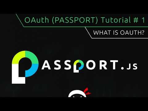 OAuth Login (Passport.js) Tutorial #1 - What is OAuth? thumbnail