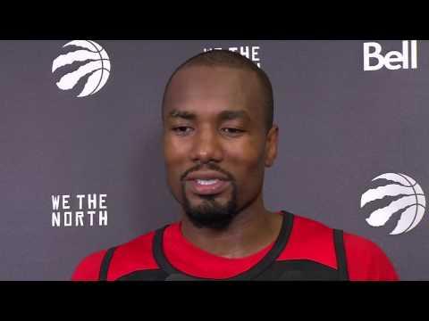 Raptors Shootaround: Serge Ibaka - February 24, 2017