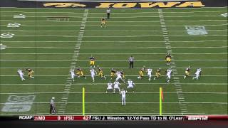 2013-10-5 MSU vs Iowa - Sadler Fake Punt