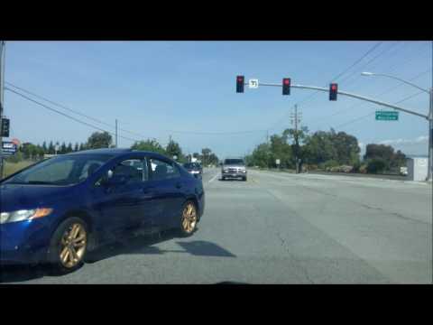 Drive Gilroy to Morgan Hill, California