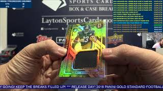 2018 Panini Gold Standard Football Hobby 12 Box Case Break #10   RANDOM TEAMS
