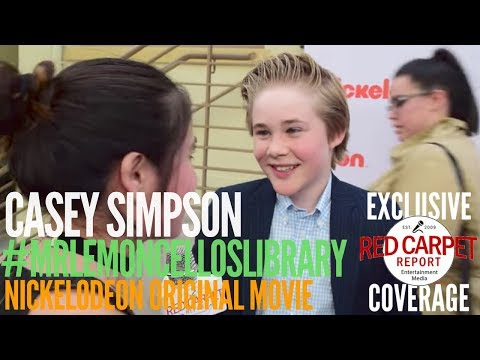 Casey Simpson  interview at Nickelodeon's Escape From Mr. Lemoncello's Library Movie Event