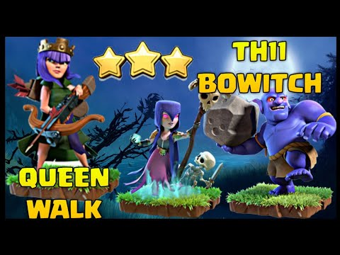 Th11 Queen Walk BoWitch (Bowler + Witch) War Attack Strategy | Clash of Clans