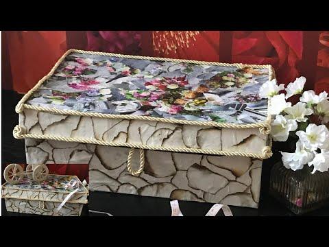 DIY Organizing box /DIY gift box/ DIY jewelry box.