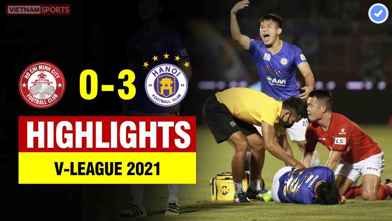 Highlights TP HCM 0-3 Hà Nội | Hoàng Thịnh xoạc gãy chân Hùng Dũng - HLV rớt nước mắt
