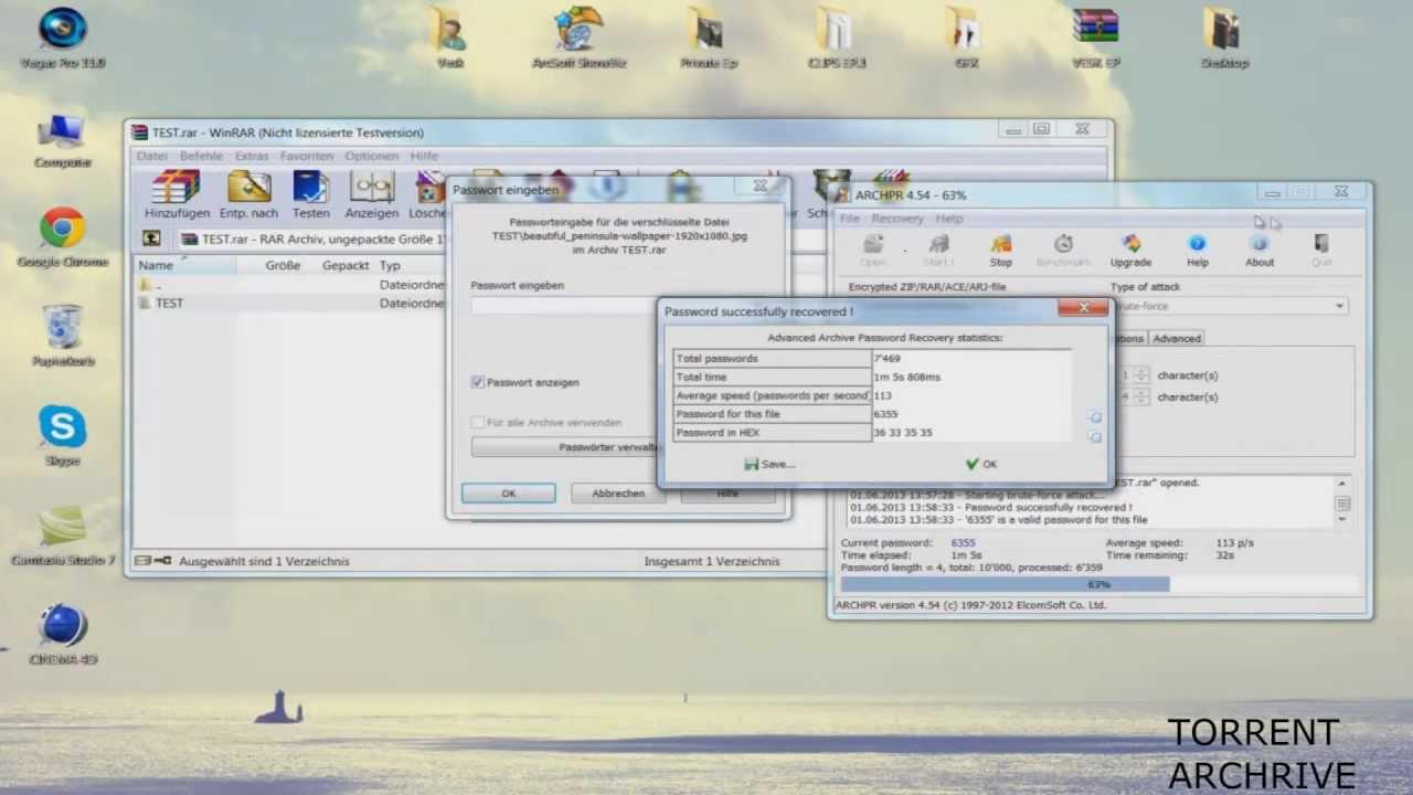 WinRAR Passwort knacken [German] - YouTube