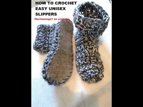 Crochet Easy Unisex Crochet Slippers Christmas Gift Idea Felt