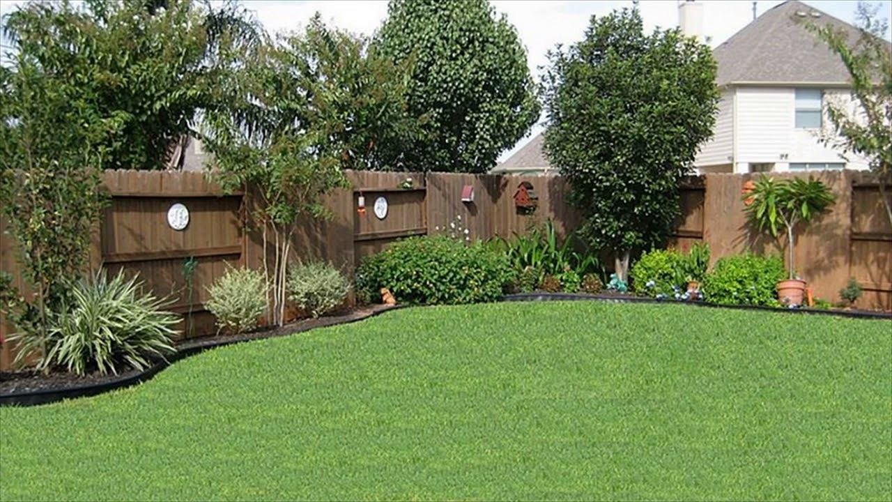 Landscaping Along A Fence Ideas - YouTube