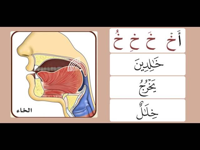 Practicing the letters غين & خا