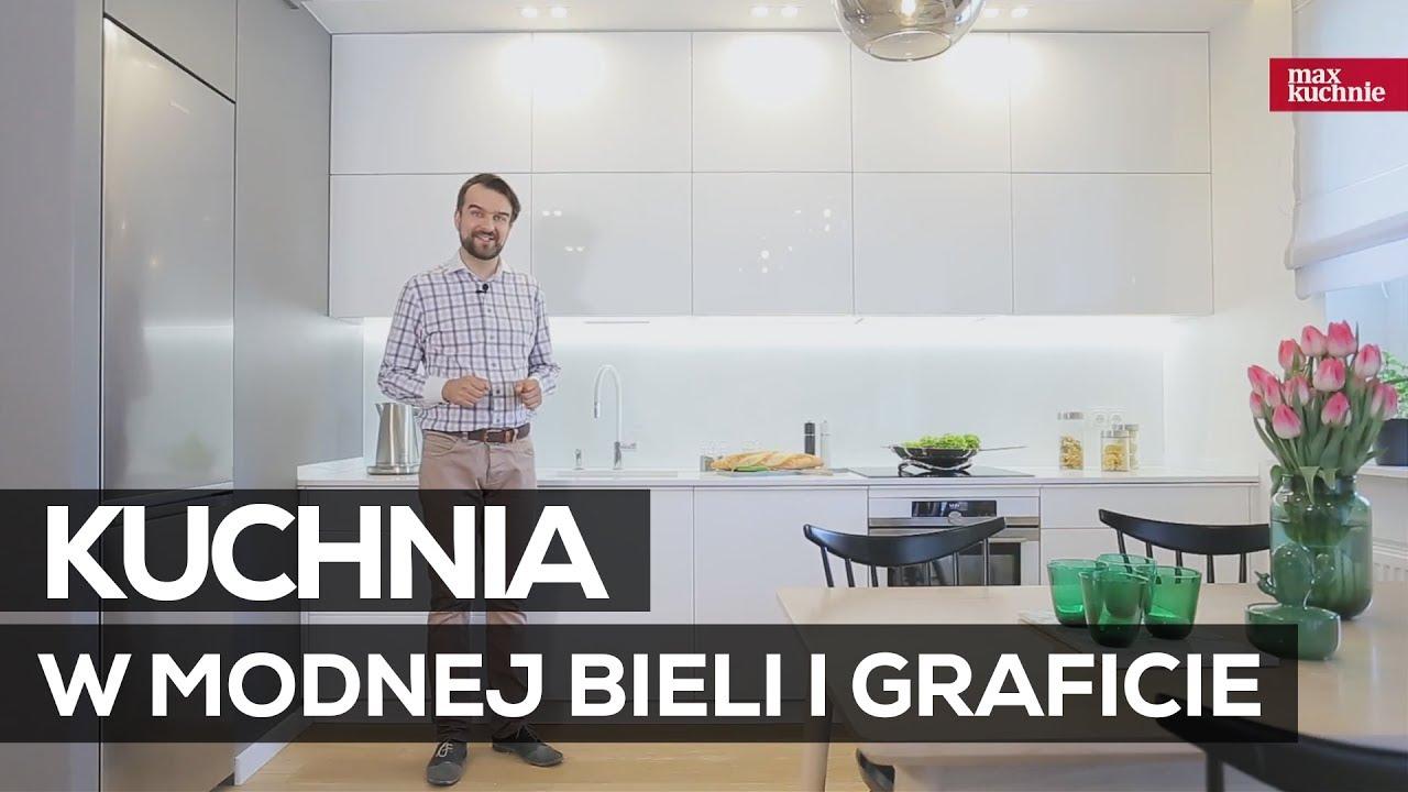 Kuchnia W Modnej Bieli I Graficie Studio Max Kuchnie Meble Wach Warszawa