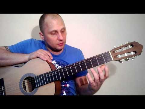 Как играть на гитаре.Виктор Цой - Ночь
